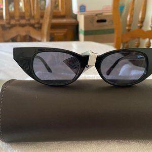 Le Specs Black The Breakers Cat Eye Sunglasses NWT